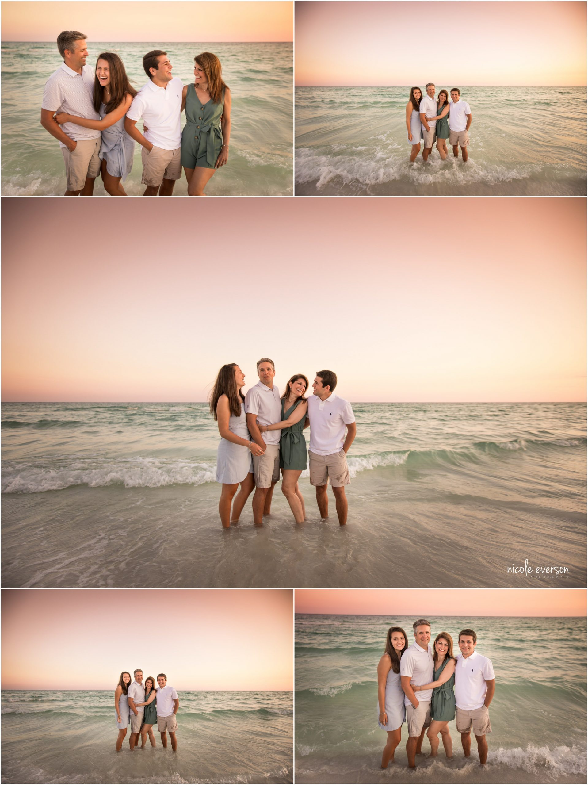 sunset family beach photos