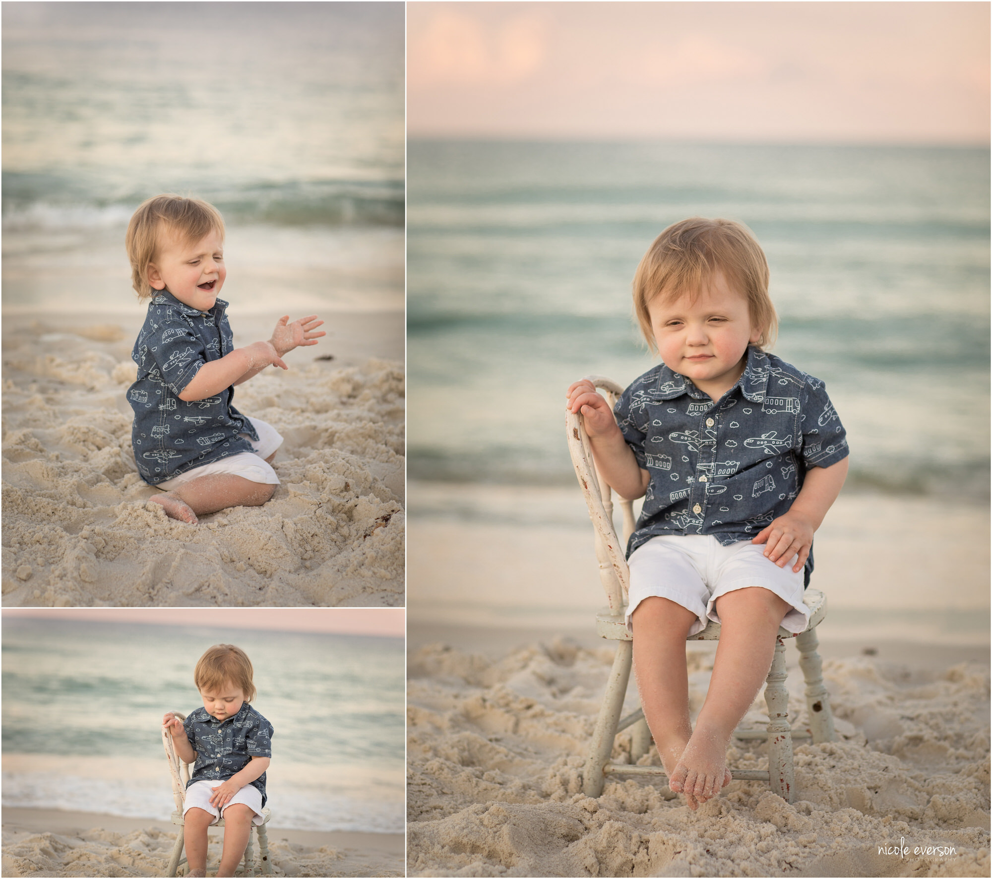 pictures of a baby boy on rosemary beach
