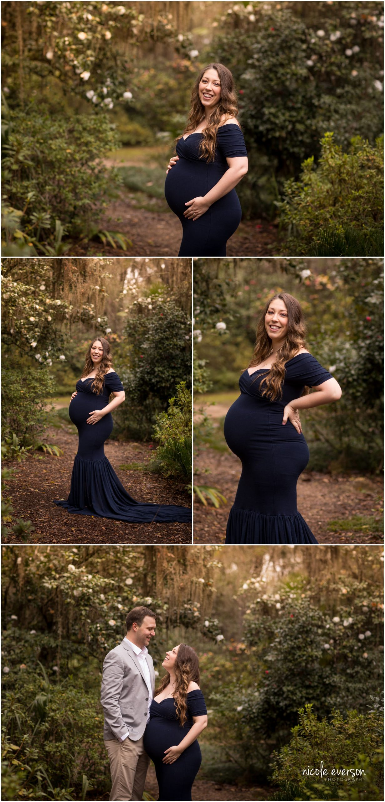 glowing maternity photoshoot in Tallahassee McClay gardens