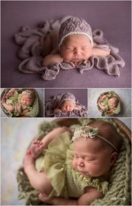 newborn baby girl photographed in Tallahassee Florida by Nicole Everson Photography