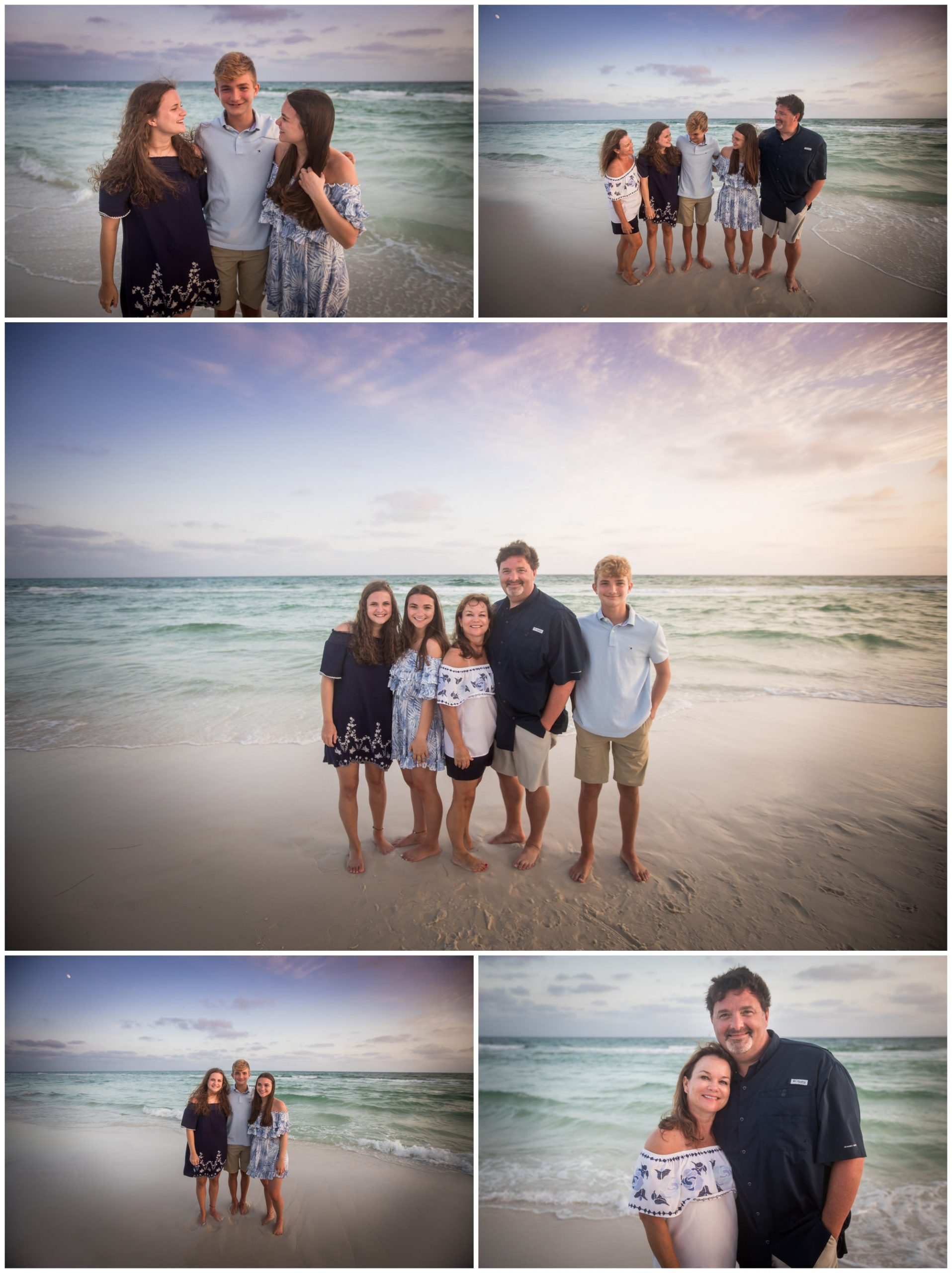family photos on Dune Allen beach photographed by Nicole Everson Photography